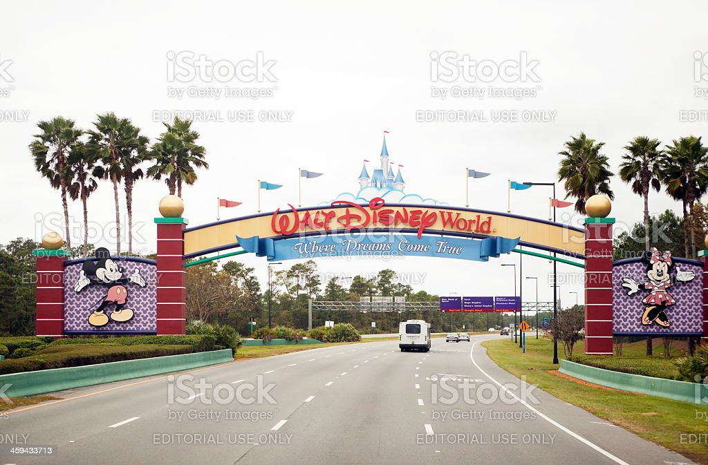 South entrance of Disney World in Orlando Florida stock photo