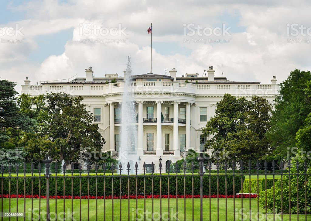 South Façade of White House in Washington, D.C. USA stock photo