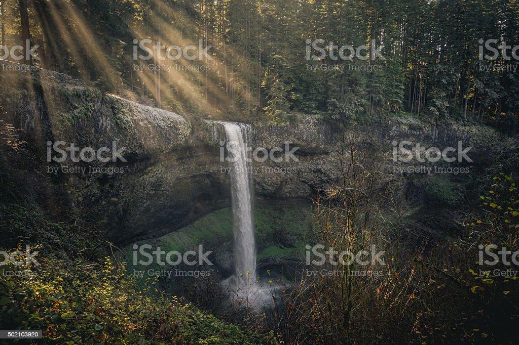 South Falls Landscape stock photo