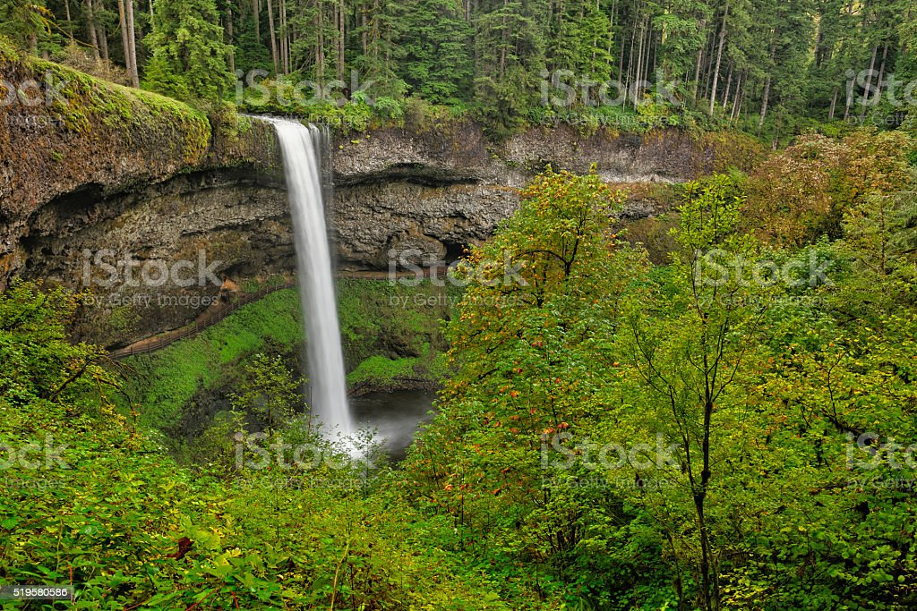 South Falls, Silver Falls State Park stock photo