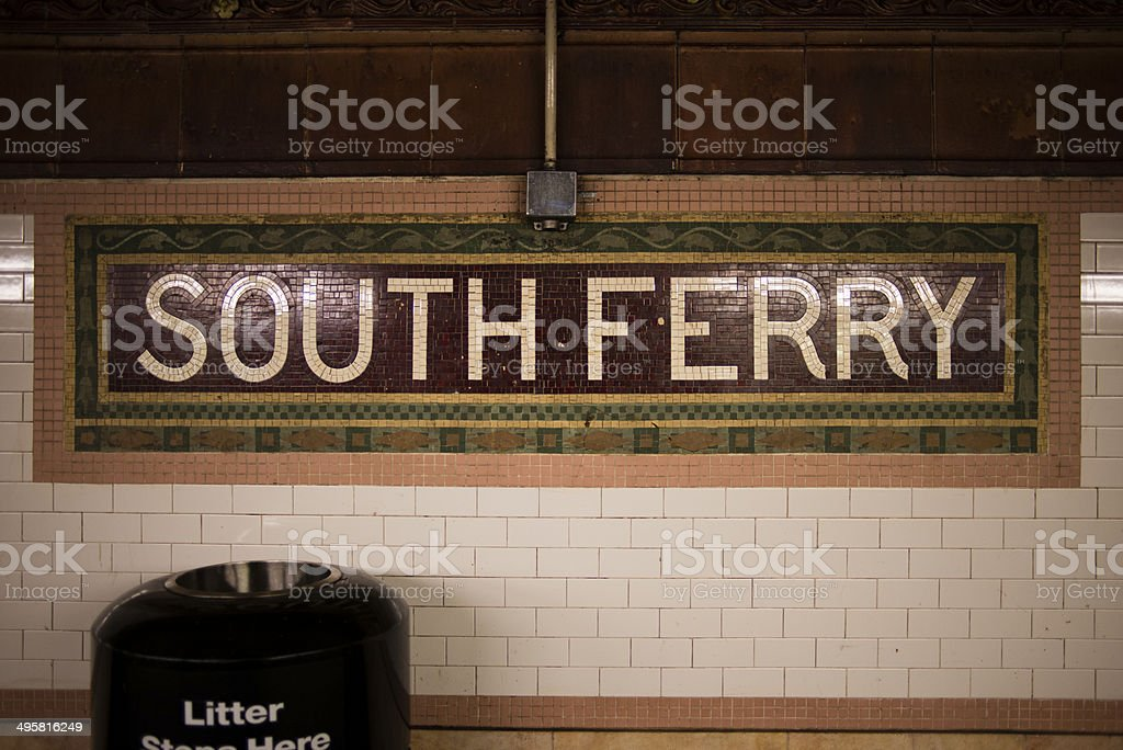 South Ferry station, New York royalty-free stock photo