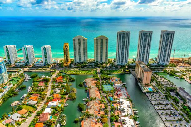 South Florida Coastal Aerial stock photo
