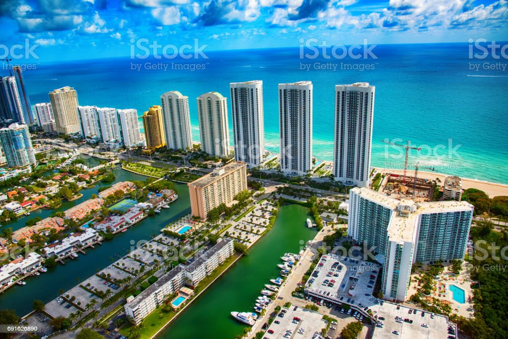 South Florida Coastal Resorts stock photo