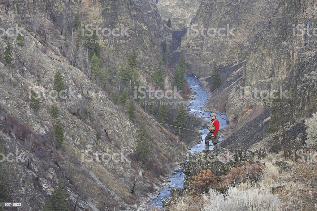 South Fork Canyon Overlook stock photo