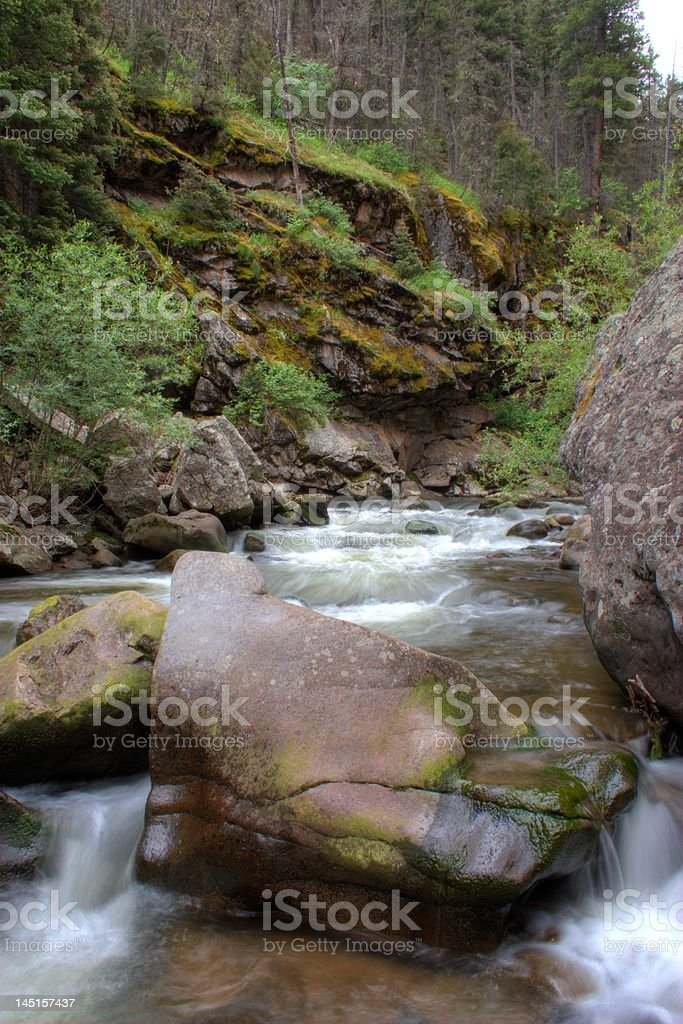 South Fork of the Rio Grande River royalty-free stock photo