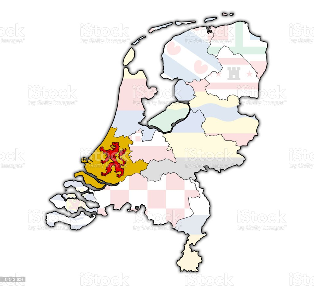 South holland flag on map with borders of provinces in netherlands south holland flag on map with borders of provinces in netherlands royalty free stock photo gumiabroncs Choice Image