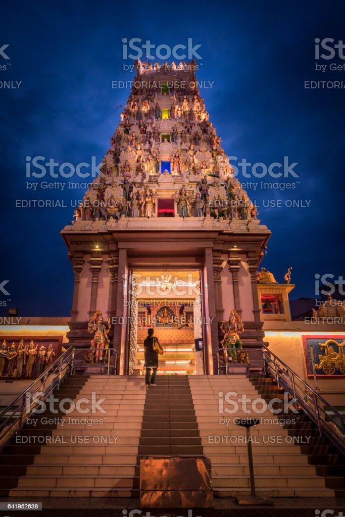 South Indian Hindu temple in Johor Bahru, Malaysia stock photo