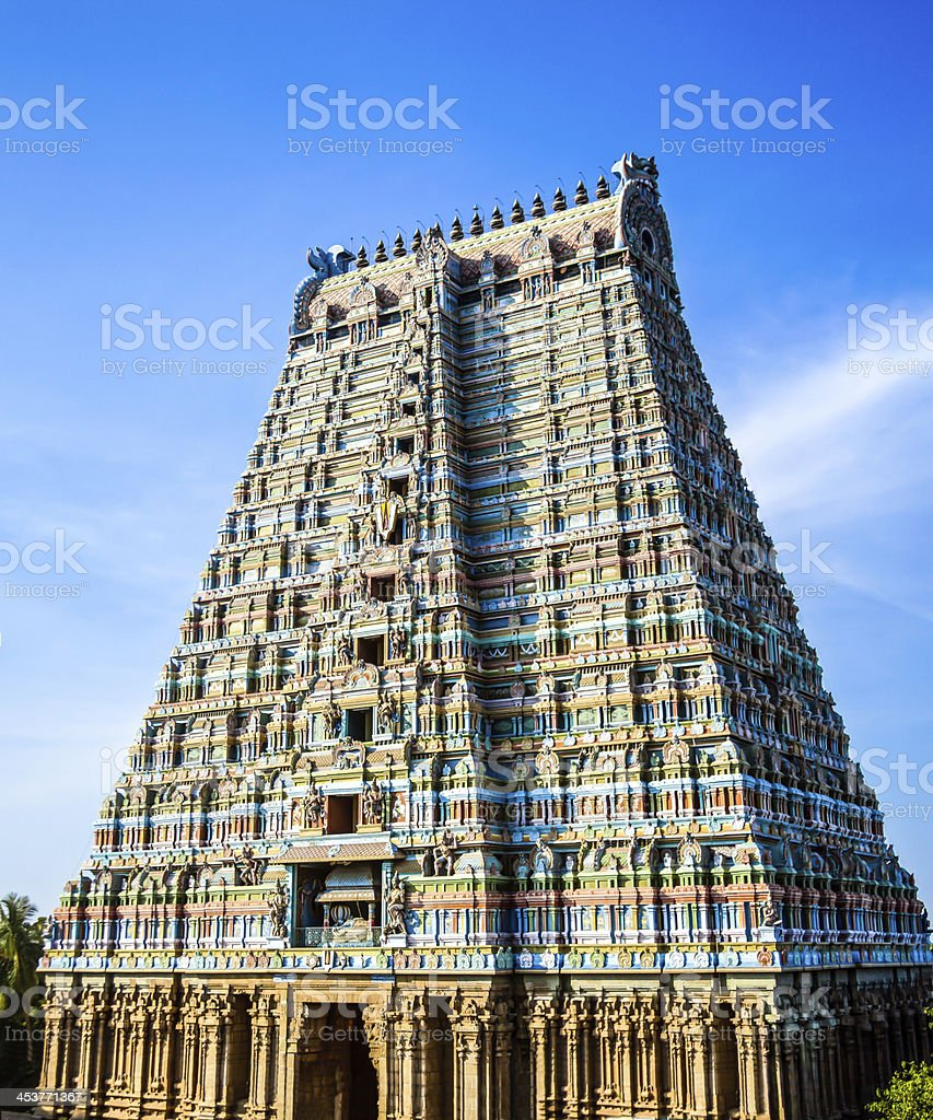 South Indian Temple Tower stock photo
