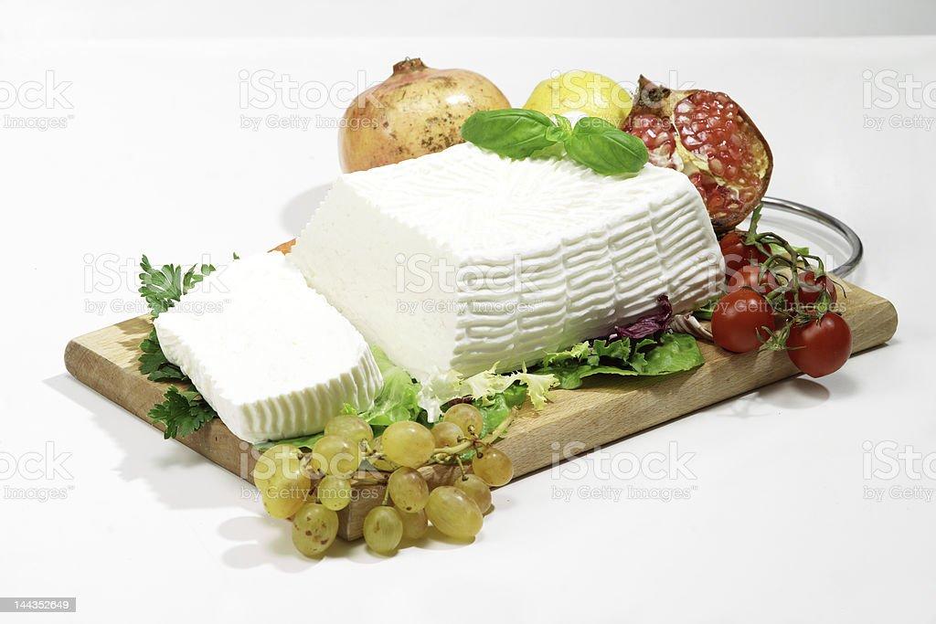 South Italian Cheese Junket Giuncata royalty-free stock photo