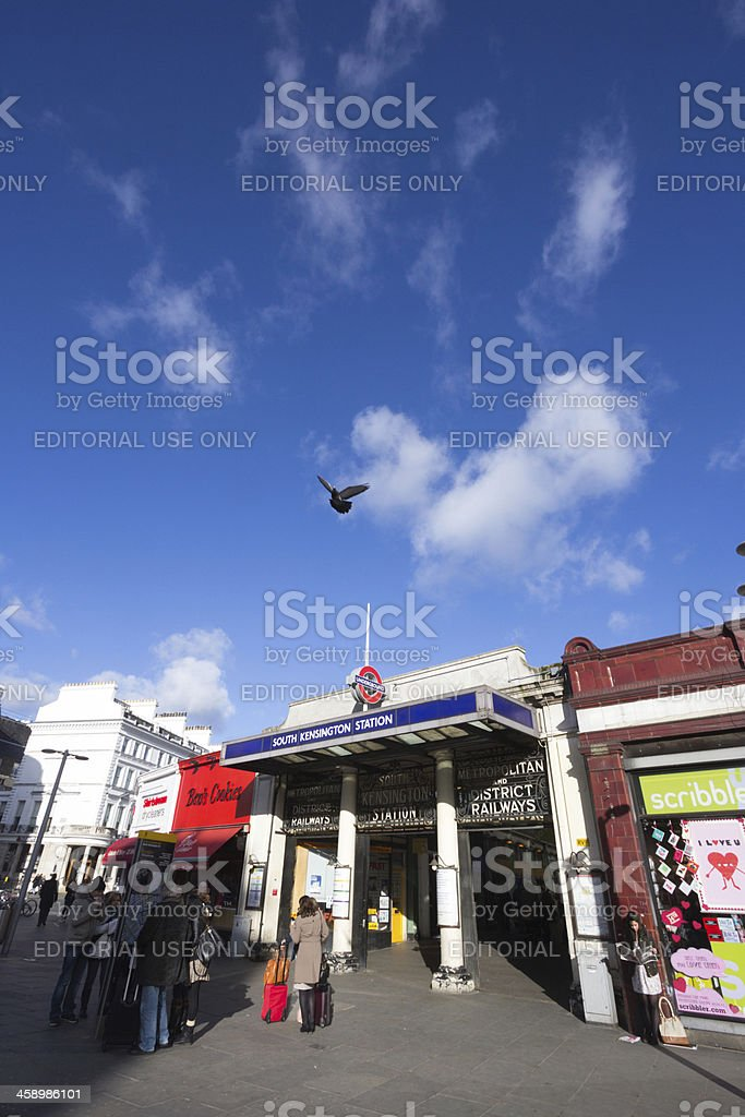 South Kensington Station in London, England royalty-free stock photo