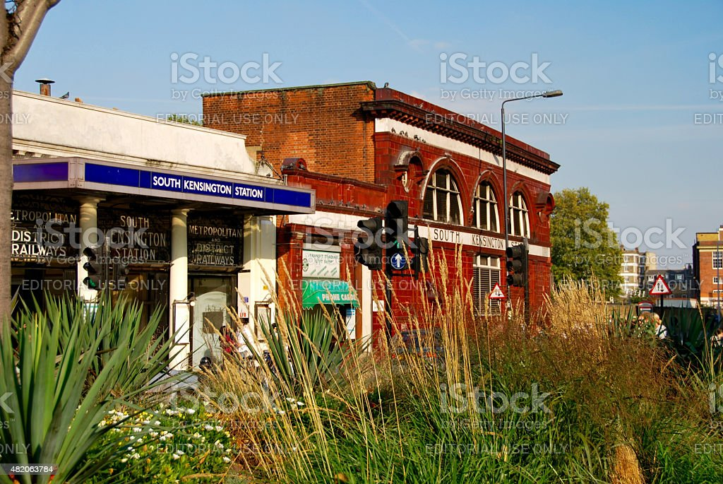 South Kensington Tube station stock photo
