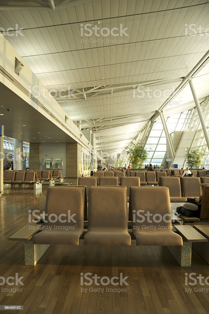 South Korea Airport Wait Area royalty-free stock photo