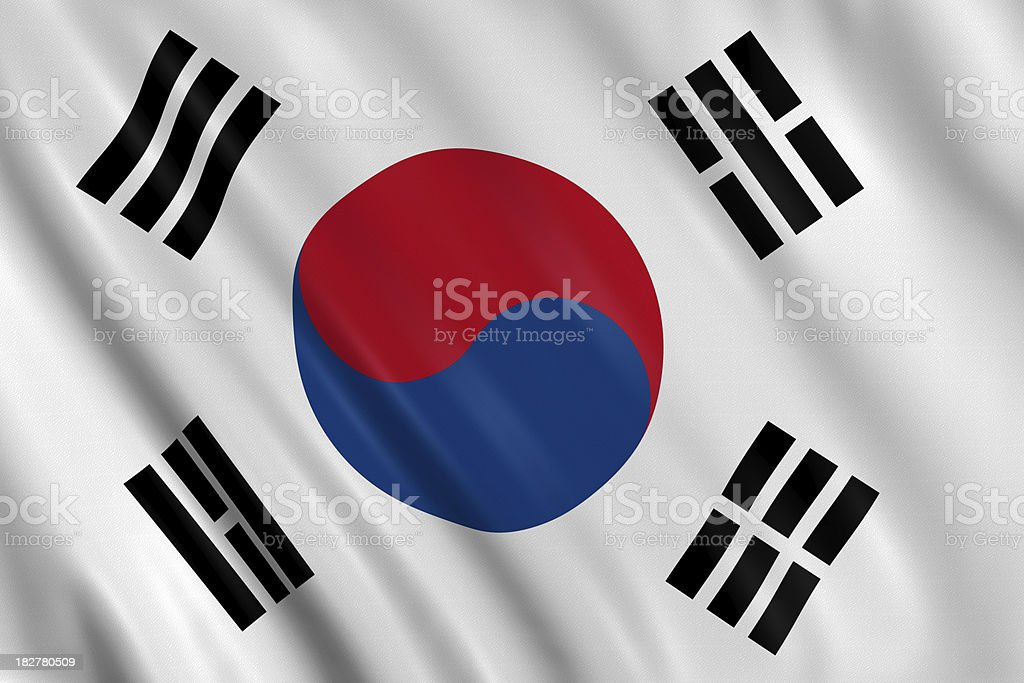 south korea flag stock photo