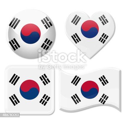 istock South Korea Flags & Icon Set 453780053