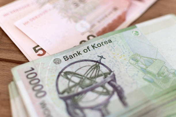 South Korean Currency Dollar stock photo