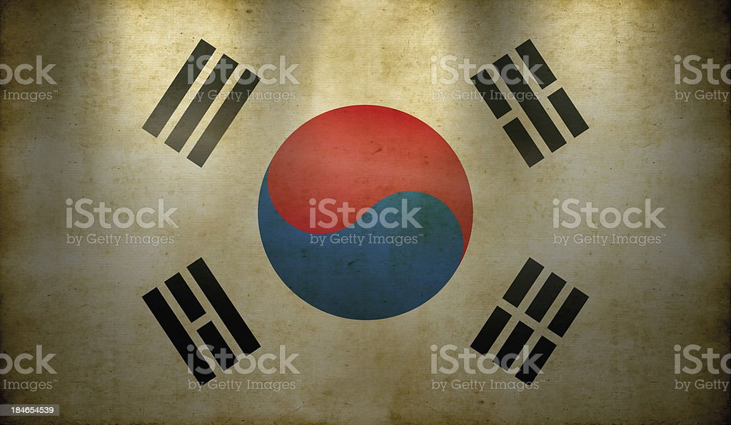 South Korean Flag Grunge Wallpaper Stock Photo More Pictures Of