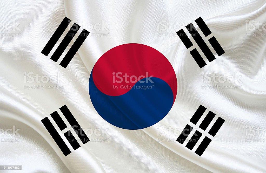 South Korean Flag stock photo