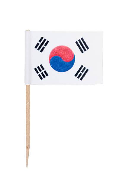 South Korean paper flag foto