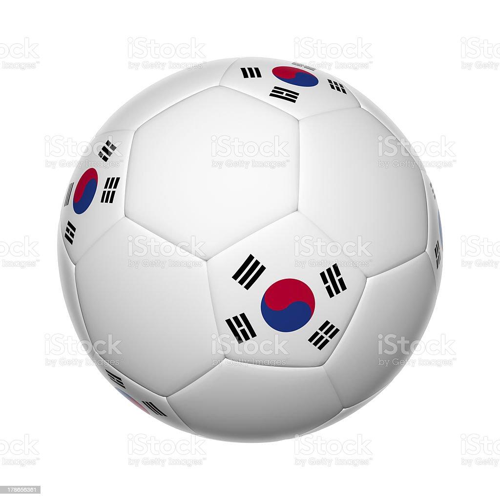 South Korean soccer ball royalty-free stock photo
