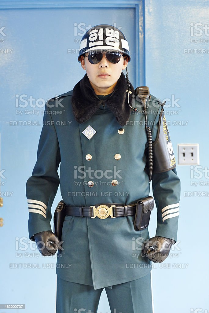 South Korean Soldier in the JSA royalty-free stock photo