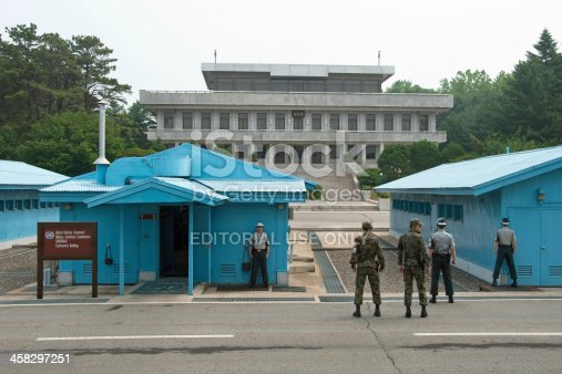 587773316 istock photo South Korean Soldiers in DMZ 458297251