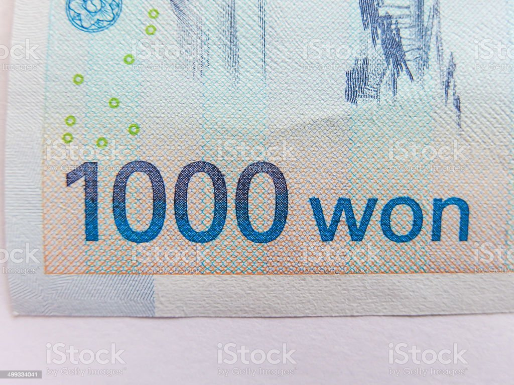 South Korean Won currency royalty-free stock photo