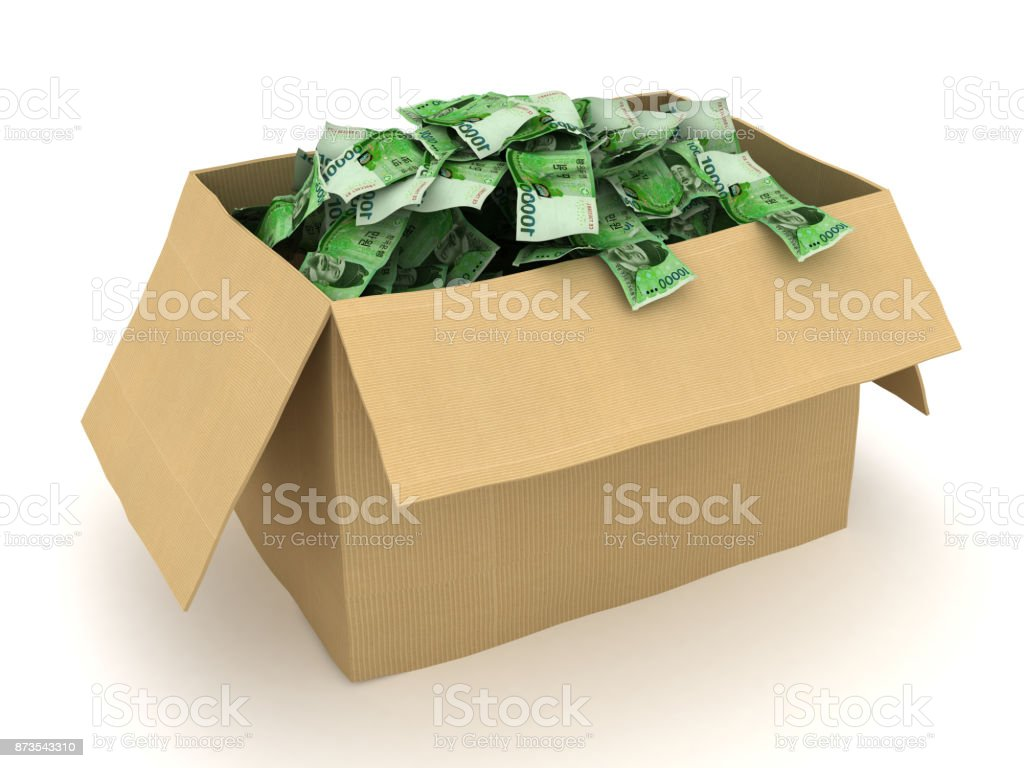 South Korean won money stock photo