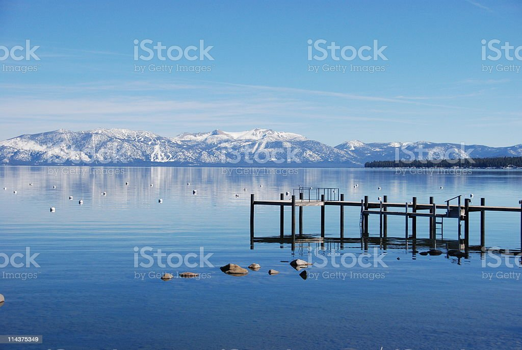 South Lake Tahoe in Springtime stock photo