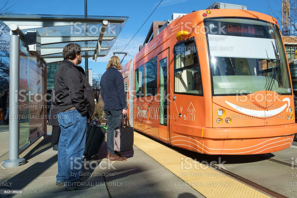 South Lake Union Trolley stock photo