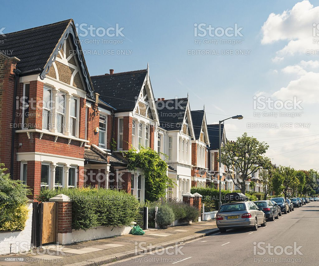 South London - Victorian Housing stock photo