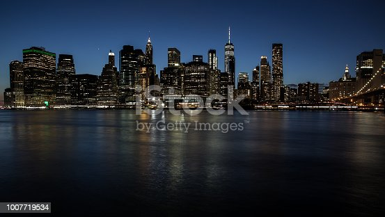 A long exposure of the New York Skyline taken from the view point of Brooklyn