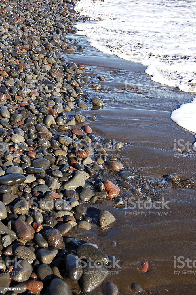 South Maui Black Beach Vertical royalty-free stock photo