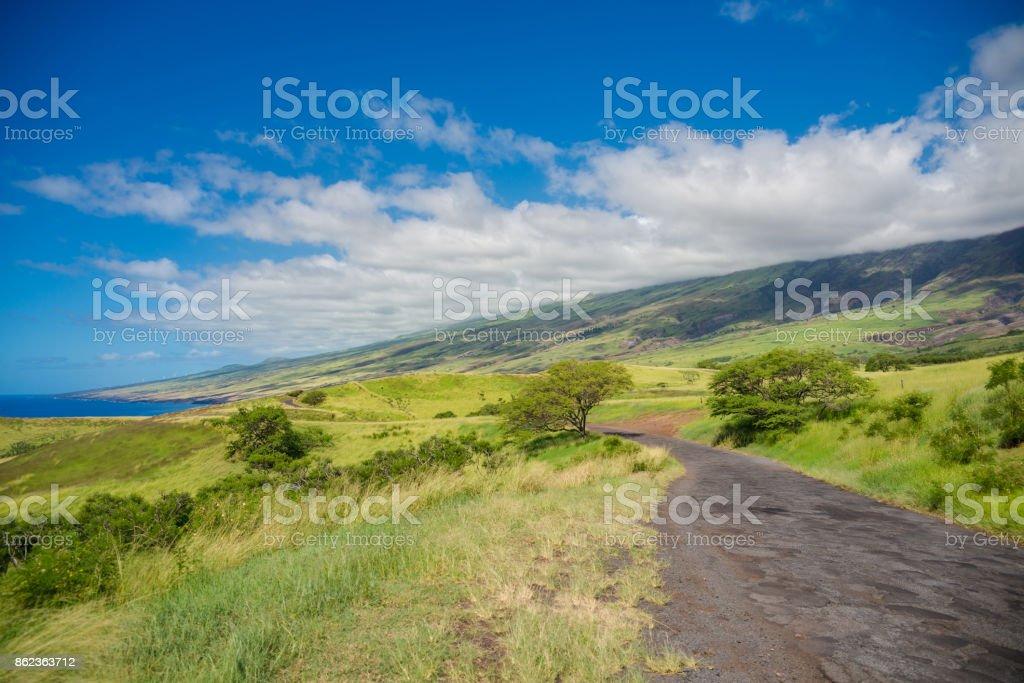 South Maui. The backside of Haleakala Crater on the island of Maui Hawaii stock photo