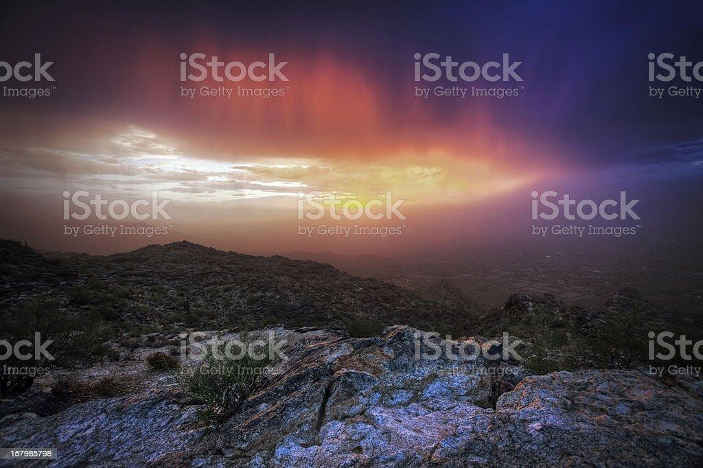 South Mountain Storm royalty-free stock photo