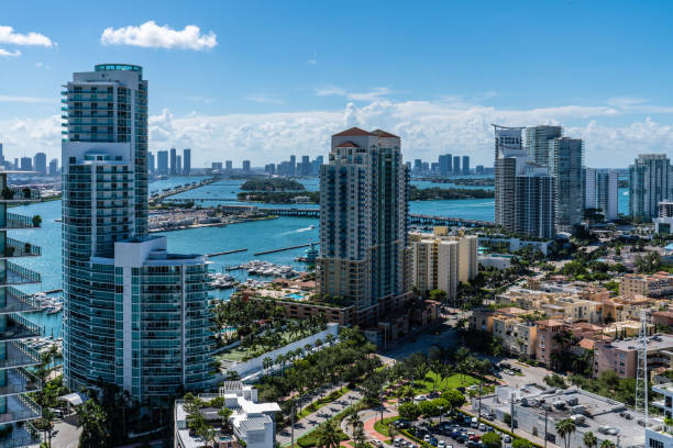 South of 5th Miami Beach West View stock photo