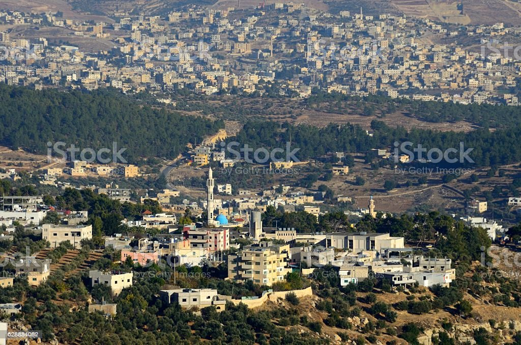 South of Ajloun, Jordan stock photo