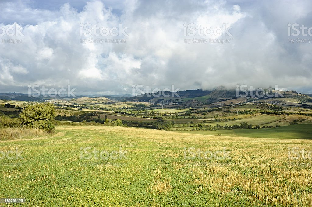 South of France moors panorama stock photo