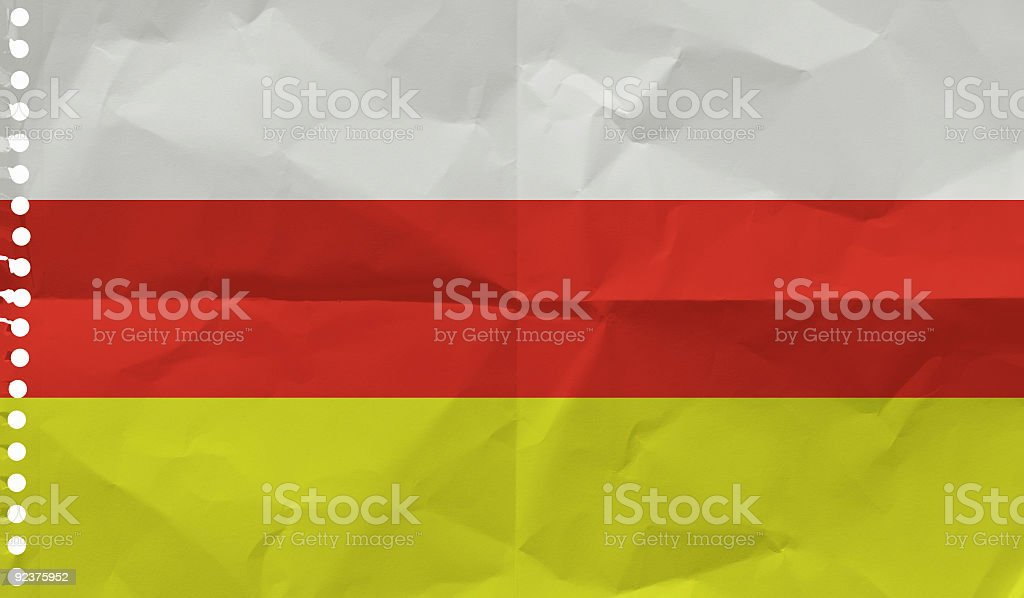 South Ossetia on a piece of paper royalty-free stock photo