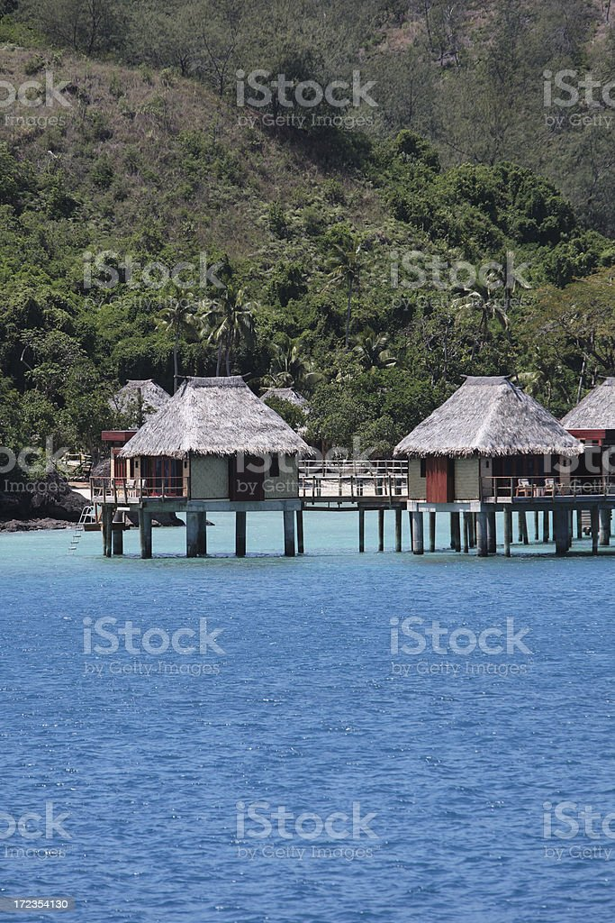south pacific luxury accommodation royalty-free stock photo
