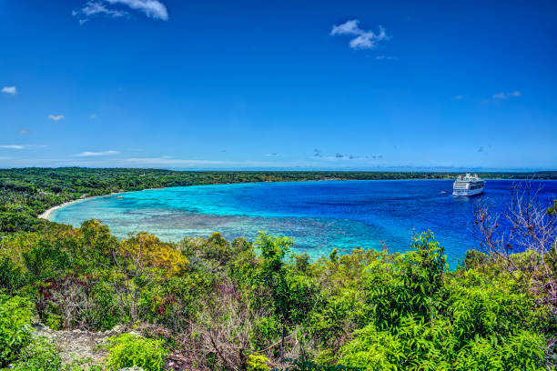 South Pacific Paradise - Lifou, Loyalty Islands stock photo