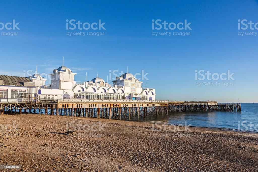 South Parade Pier, Southsea, Hampshire, UK, stock photo