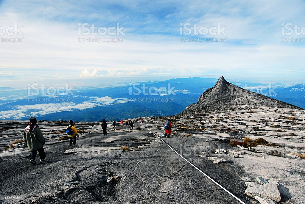 South Peak, Mount Kinabalu stock photo