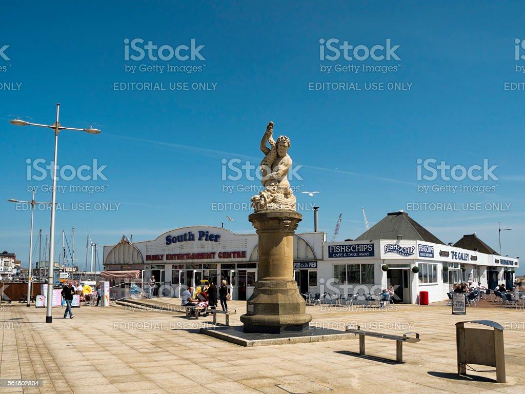 South Pier, Lowestoft stock photo