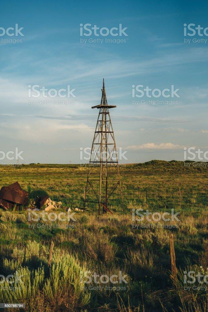 South Plains - Near Amherst, Texas stock photo