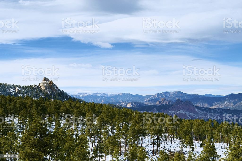South Platte Winter with Sheeps Nose royalty-free stock photo