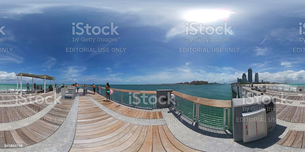 South Pointe Park fishing pier stock photo
