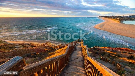 istock South Port Beach boardwalk at sunset 1239827155