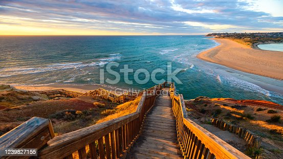 istock South Port Beach boardwalk at sunset 1239827155