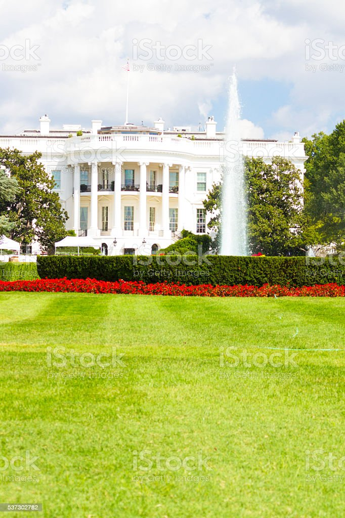 South Portico Of The White House - Washington DC stock photo