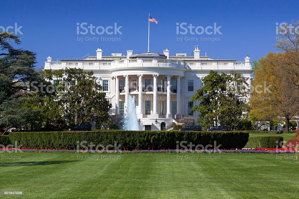 South Portico of the White House, Washington DC, USA. royalty-free stock photo